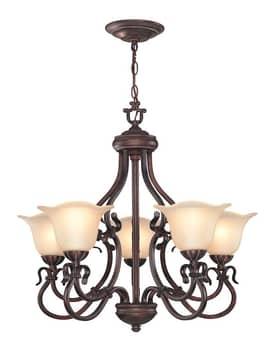 Lite Source Inc. Laurent Laurent C7956 5 Light Chandelier in Antique Bronze Finish Lighting