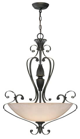 Lite Source Inc. Vitalia Vitalia C7981 3 Light Chandelier in Aged Bronze Finish Lighting