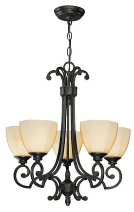 Lite Source Inc. Dalton Dalton C7988 5 Light Chandelier in Dark Bronze Finish Lighting
