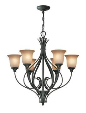 Lite Source Inc. Cambree Cambree C7989 6 Light Chandelier in Dark Bronze Finish Lighting
