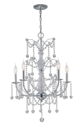 Lite Source Inc. Crysilda Crysilda EL-10012 5 Light Chandelier in Chrome Finish Lighting