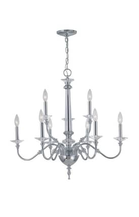 Lite Source Inc. Manica Manica EL-10016 9 Light Chandelier in Chrome Finish Lighting
