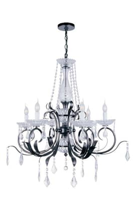 Lite Source Inc. Gardenia Gardenia EL-10024 6 Light Chandelier in Dark Bronze Finish Lighting