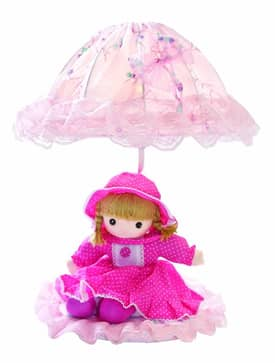 Lite Source Inc. Baby Doll Baby Doll IK-6091PINK Table Lamp in Pink Lighting