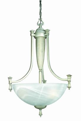 Lite Source Inc. Luxor Luxor LS-10583 3 Light Pendant in Aged Silver Finish Lighting