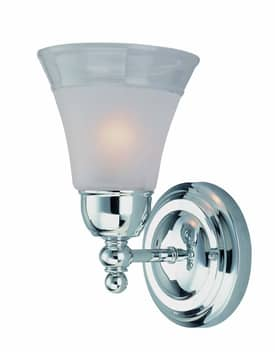 Lite Source Inc. Faris Faris LS-16891C/FRO 1 Light Wall Sconce in Chrome Finish Lighting