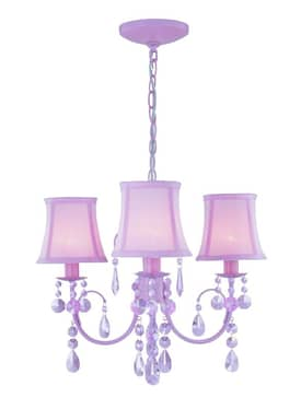 Lite Source Inc. Sofie Sofie LS-19528PINK 3 Light Chandelier in Pink Lighting