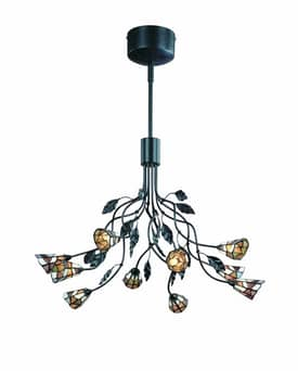 Lite Source Inc. Epic Epic LS-19810 10 Light Chandelier in Dark Rust Finish Lighting