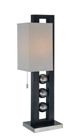 Lite Source Inc. Pelota Pelota LS-2451 Table Lamp in Polished Steel Finish Lighting