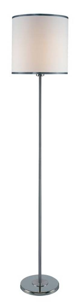 Lite Source Inc. Fayola Fayola LS-81260C/WHT Floor Lamp in Chrome Finish Lighting
