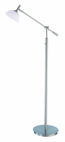 Lite Source Inc. Marion Marion LS-81265PS/FRO Floor Lamp in Polished Steel Finish Lighting