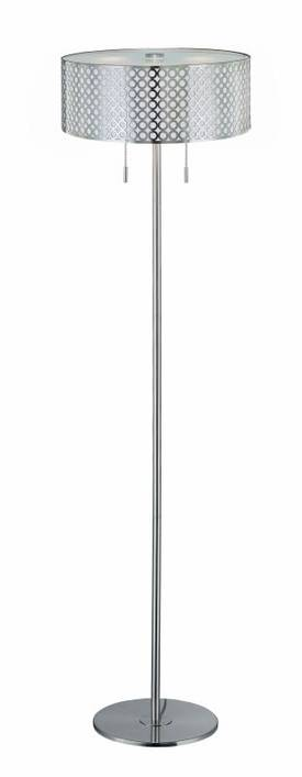 Lite Source Inc. Netto Netto LS-81519PS Floor Lamp in Polished Steel Finish Lighting