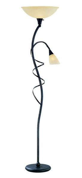 Lite Source Inc. Wavia Wavia LS-81571 Floor Lamp in Antique Gold Finish Lighting