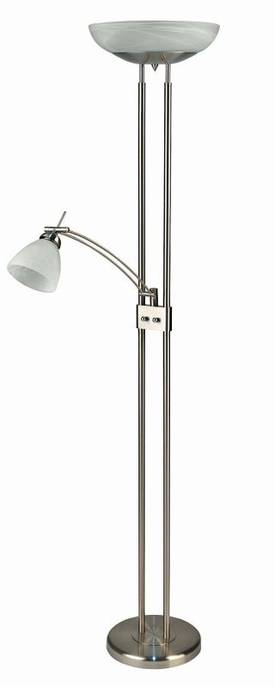 Lite Source Inc. Stratford Stratford LS-8515PS/CLD Floor Lamp in Polished Steel Finish Lighting