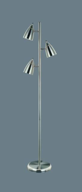 Lite Source Inc. Bullets Bullets LS-9406PS Floor Lamp in Polished Steel Finish Lighting