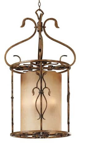 Kenroy Home Verona Verona Foyer Chandelier with 3 Lights In Copper Finish Lighting