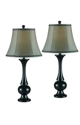 Kenroy Home MP2 Abbott 2 Pack Table Lamp in Metallic Bronze Finish Lighting
