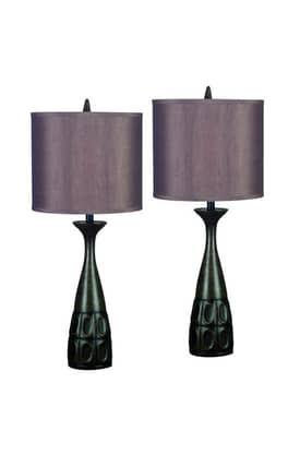 Kenroy Home MP2 Jules 2 Pack Table Lamp in Mahogany Bronze Finish Lighting