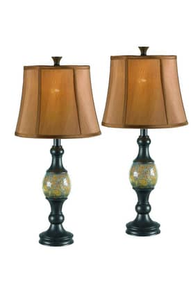 Kenroy Home MP2 Shay 2 Pack Table Lamp in Bronze Finish Lighting