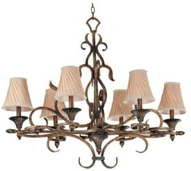 Kenroy Home Verona Verona 6 Light Chandelier in Aged Golden Copper Finish Lighting
