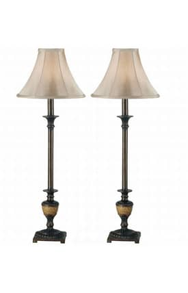 Kenroy Home MP2 Emily Buffet Lamp in Crackle Bronze Finish Lighting