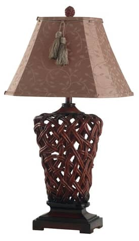 Kenroy Home Belize Belize Table Lamp with Rattan Finish Lighting