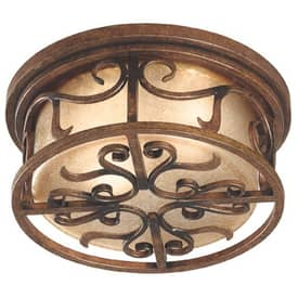 Kenroy Home Verona Verona Flush Mount in Aged Golden Copper Finish Lighting