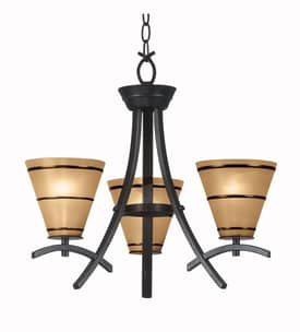 Kenroy Home Wright Wright Chandelier with 3 Lights With Bronze Finish Lighting