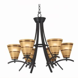 Kenroy Home Wright Wright Chandelier with 6 Lights With Bronze Finish Lighting