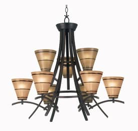 Kenroy Home Wright Wright Chandelier with 9 Lights With Bronze Finish Lighting