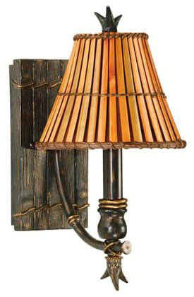 Kenroy Home Kwai Kwai Wall Sconce in Bronze Finish Lighting