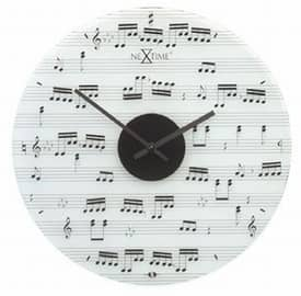 Nextime Playing Time Music Notes Wall Clock