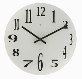 Nextime Simple Times Mirror Glass Wall Clock