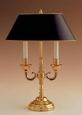 Remington Traditional Brass Directoire Table Lamp in Polished Brass Finish Lighting