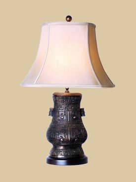 East Enterprises Oriental Oriental Urn Table Lamp with Bronze Finish Lighting