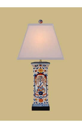 East Enterprises Country & Floral Imari Porcelain Vase LPBKL1014S Table Lamp In Multi Lighting