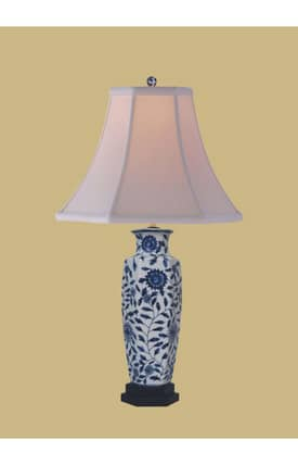 East Enterprises Asian Porcelain Vase LPDBJH1011E Table Lamp In White Lighting