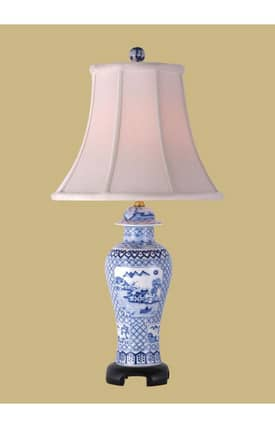 East Enterprises Asian Porcelain Canton Jar LPDBWS0813Q Table Lamp In White Lighting