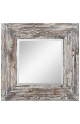Cooper Classics Wood Keitts Square Mirror