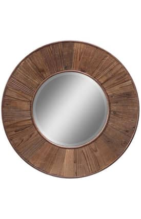 Cooper Classics Wood Riley Round Mirror