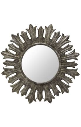 Cooper Classics Wood Fairview Round Mirror