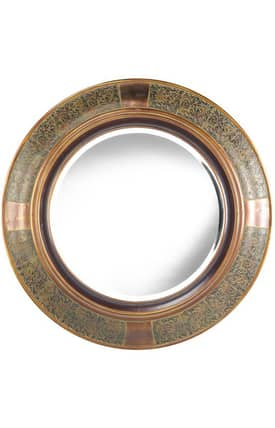 Cooper Classics Traditional Elliott Round Mirror