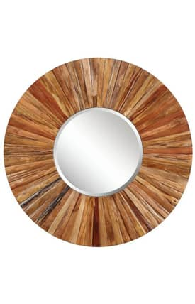 Cooper Classics Wood Berkley Round Mirror