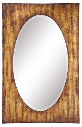 Cooper Classics Wood Morgan Oval Mirror