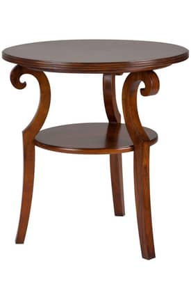 Cooper Classics Tables Savannah Round Accent Table Furniture