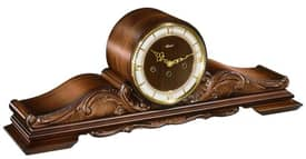 Hermle Table Clocks Antique Reproduction Tambour Clock with Walnut Finish