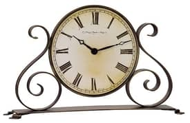 Hermle Table Clocks Mobile Dial Tabletop Clock with Antique Patina Finish