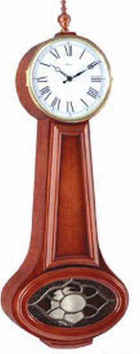Hermle Chiming Wall Clocks Classic Banjo Chiming Wall Clock with Cherry Finish