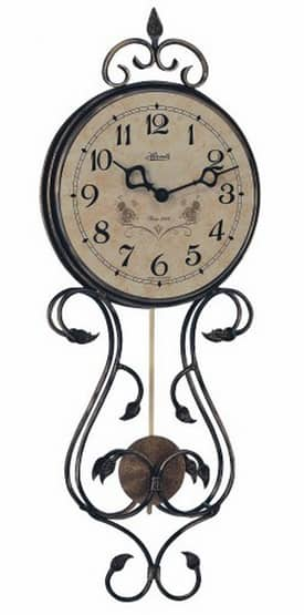Hermle Wall Clocks Wrought Iron Pendulum Wall Clock with Antique Finish