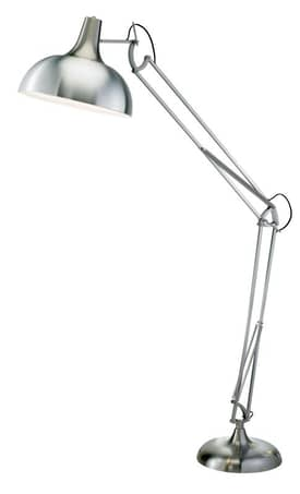 Adesso Atlas Atlas Floor Lamp with Steel Finish Lighting